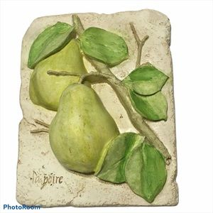 Lapoire 3D  Pear Fruit Wall Decor Plaque 90's